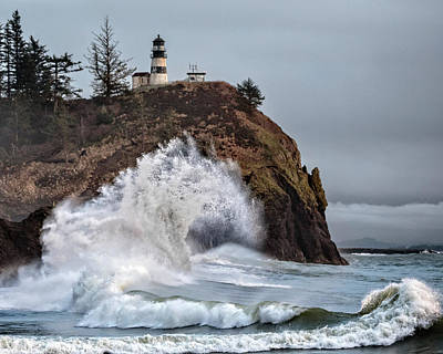 Photograph - Cape  Disappointment Waves by Wes and Dotty Weber