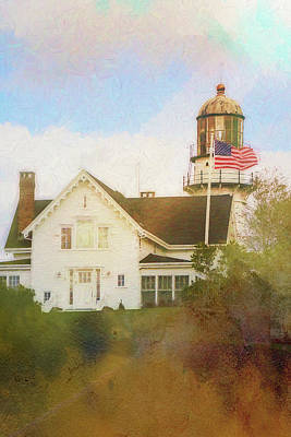 Northeast Mixed Media - Cape Elizabeth Lighthouse 2 by Terry Davis