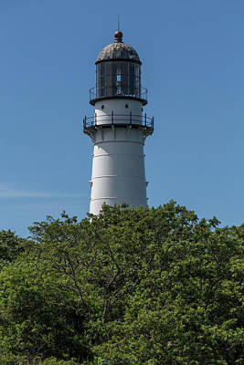 Photograph - Cape Elizabeth Lighthouse Tower by Brian MacLean