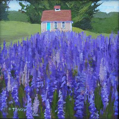 Painting - Cape Elizabeth Lupines - Art By Bill Tomsa by Bill Tomsa