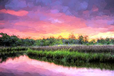 Cape Fear Pink Art Print by JC Findley