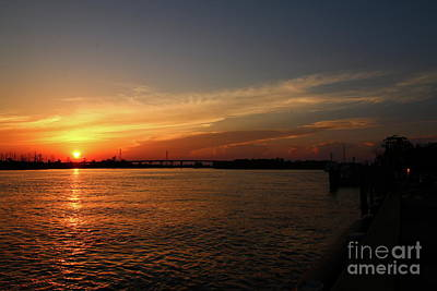 Photograph - Cape Fear River Sunset by Christiane Schulze Art And Photography
