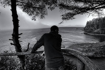 Digital Art - Cape Flattery Fog by Patrick Groleau