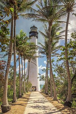 Photograph - Cape Florida Light by Framing Places