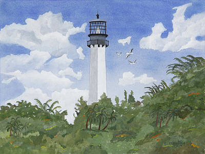 Cape Florida Lighthouse Painting - Cape Florida Lighthouse by John Edebohls