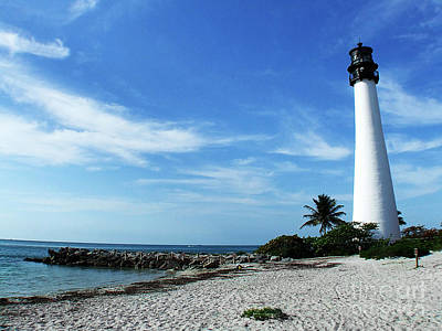 Cape Florida Lighthouse Art Print by Tammy Chesney