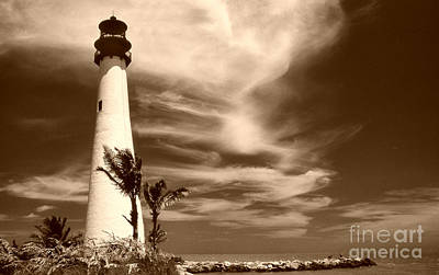 Cape Florida Lighthouse Photograph - Cape Florida by Skip Willits