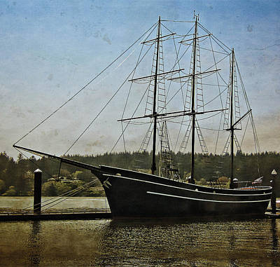 Photograph - Cape Foulweather Tall Ship by Thom Zehrfeld