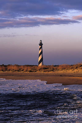 Cape Hatteras Lighthouse At Sunrise - Fs000606 Art Print