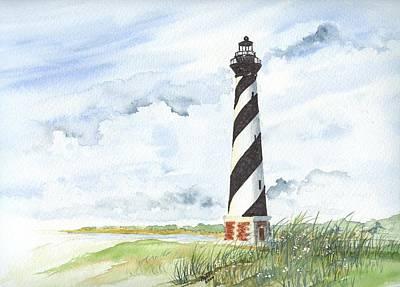 Cape Hatteras Lighthouse Art Print by Denise   Hoff