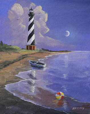 Cape Hatteras Lighthouse Art Print by Jerry McElroy