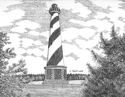 Drawing - Cape Hatteras Lighthouse by Lawrence Tripoli