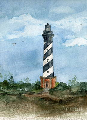 Painting - Cape Hatteras Lighthouse  by Nancy Patterson