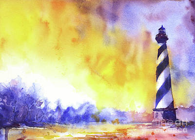Painting - Cape Hatteras Lighthouse- Outer by Ryan Fox