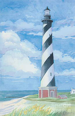 Lookout Painting - Cape Hatteras Lighthouse by Paul Brent