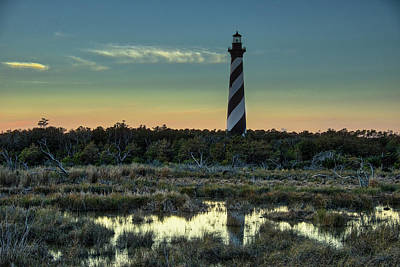 Photograph - Cape Hatteras Sunset by Donald Brown