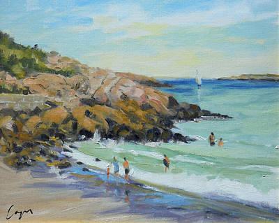 Rockport Massachusetts Painting - Cape Hedge Bathers by Chris Coyne