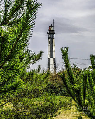 Photograph - Cape Henry Light From The Dune by Nick Zelinsky