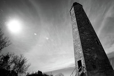 Cape Henry Lighthouse Photograph - Cape Henry Lighthouse - Virginia Colonial National Park - Black White by Gregory Ballos