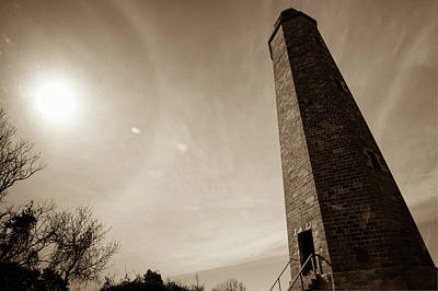 Photograph - Cape Henry Lighthouse - Virginia Colonial National Park - Sepia by Gregory Ballos