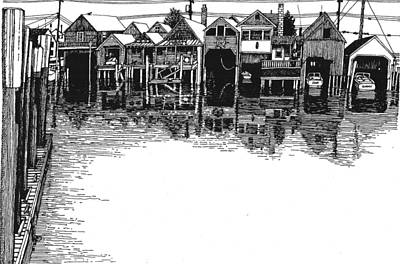 Drawing - Cape Island Creek by Chuck Snyder