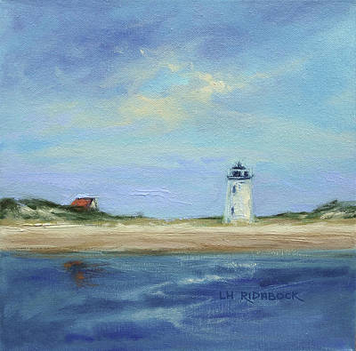 New England Lighthouse Painting - Cape Light by Lisa H Ridabock