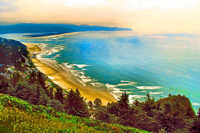 Cape Lookout From Oceanside Art Print
