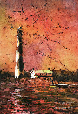 Painting - Cape Lookout Lighhtouse by Ryan Fox