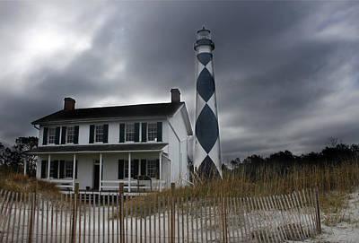 Cape Lookout Lighthouse Art Print by David Simons