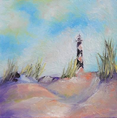 Cape Lookout Lighthouse Art Print by Donna Pierce-Clark