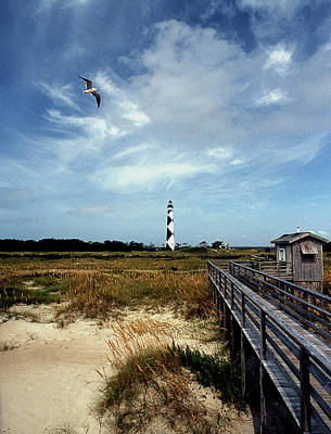 Cape Lookout Lighthouse Nc Art Print by Skip Willits