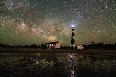 Photograph - Cape Lookout Lighthouse by Russell Pugh