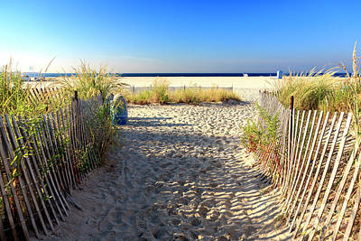 Photograph - Cape May Beach Entry by John Rizzuto