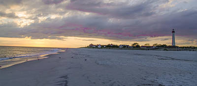 Seascape Photograph - Cape May Beach Panorama by Bill Cannon