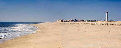 Cape May Beach Panorama New Jersey Art Print by George Oze