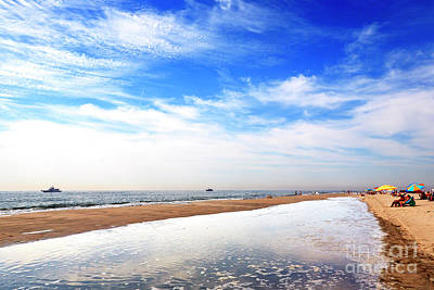Photograph - Cape May Beach View by John Rizzuto