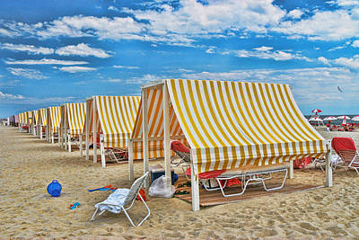 Photograph - Cape May Cabanas 2 by Allen Beatty