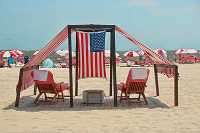 Photograph - Cape May Cabanas 3 by Allen Beatty
