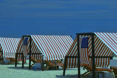 Photograph - Cape May Cabanas 4 by Allen Beatty