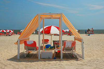 Photograph - Cape May Cabanas 5 by Allen Beatty