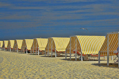 Photograph - Cape May Cabanas 6 by Allen Beatty