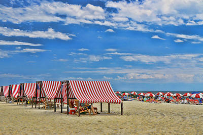 Photograph - Cape May Cabanas by Allen Beatty