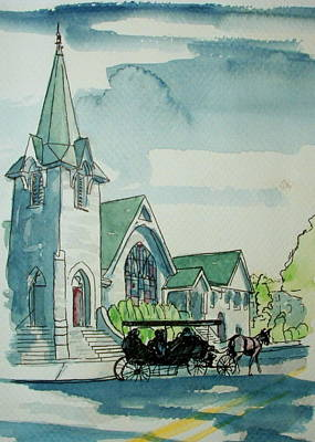 Cape May Carriage Color Art Print by George Lucas