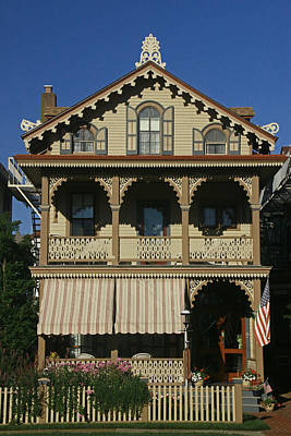 Photograph - Cape May Gingerbread House by Allen Beatty
