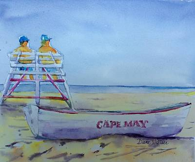Cape May Lifeguards Original by Diane Wallace