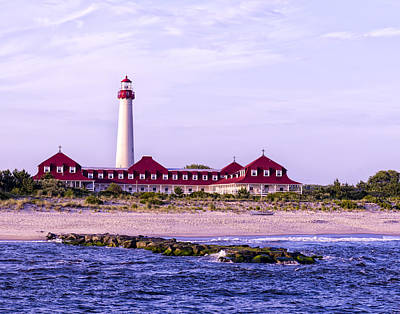 Art Print featuring the photograph Cape May Light House by Linda Constant