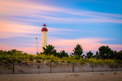 Photograph - Cape May Lighthouse As The Evening Passes By by Mark Robert Rogers