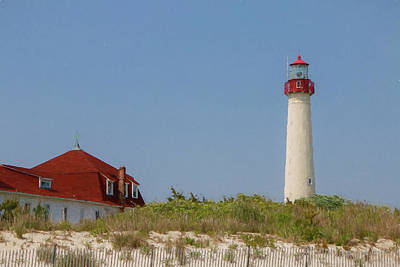 Photograph - Cape May Lighthouse Digital Painting by Teresa Wilson