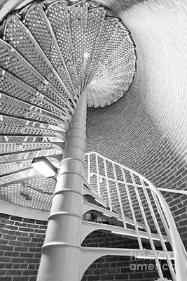 Spiral Staircase Photograph - Cape May Lighthouse Stairs by Dustin K Ryan