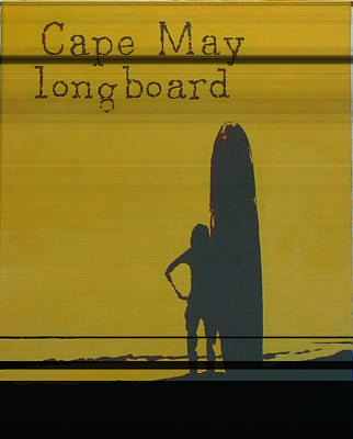 Longboard Painting - Cape May Longboard by Michael DeMusz